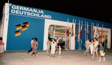Facade of the German Pavilion in 1987
