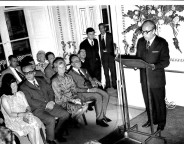 President Karm Fenech during the inauguration of Messina Palace as premises for the German-Maltese Circle in 1975